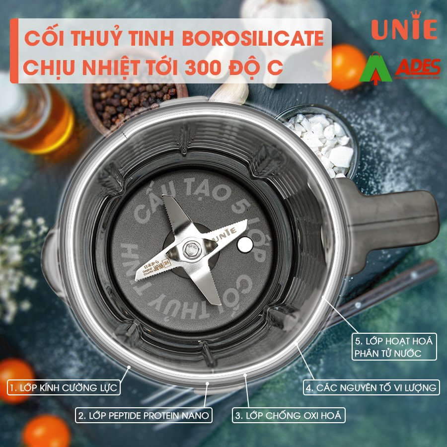 coi thuy tinh 5 lop unie v8s